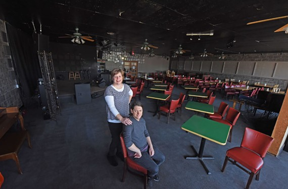 Concert booker and concierge Beth Tubb and new Ashland Coffee and Tea owner Gian Pimpinella, renamed the venue, the Mainline. It will now play host to a wider array of musical genres.