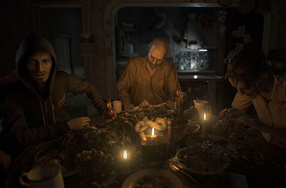 In Resident Evil 7, the player must escape a rotting Louisiana plantation, home of the mutated Baker family.
