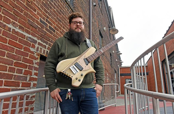 Dave Watkins with his fully electric dulcitar, partly inspired by Japanese-born luthier Michihiro Matsuda.
