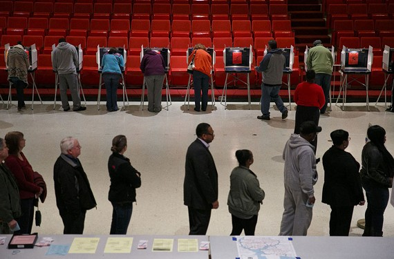 Portsmouth residents cast their ballots at Scottish Rite Temple in Portsmouth.