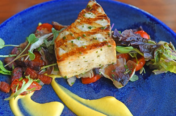 Shagbark's menu includes seafood entrees such as this swordfish filet from chef Walter Bundy.