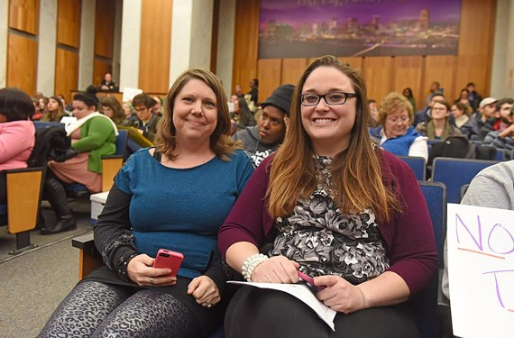Melissa Vaughn (left) and Jessee Perry are the duo behind two local government accountability websites.