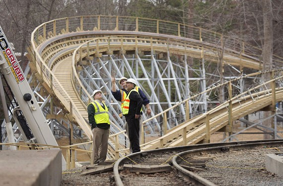 Busch Gardens Williamsburg is building its first wooden roller coaster, named Invadr, scheduled to be running in the Spring of 2017.