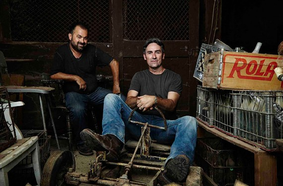 "Frank Fritz and Mike Wolfe, of History's ""American Pickers,"" are coming to Virginia in May 2017."