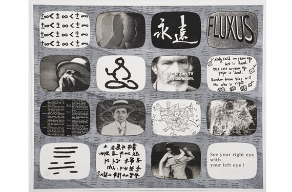 """Korean-born artist Nam June Paik was part of the fluxus movement in the 1960s and 1970s.  Pictured here is his """"Sonata 1,"""" currently on display at University of Richmond's Harnett Museum of Art."""