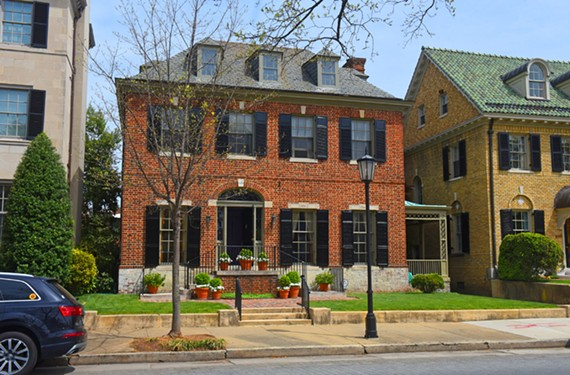 The Georgian revival house at 2320 Monument Ave., one of three William Bottomley houses open April 28.