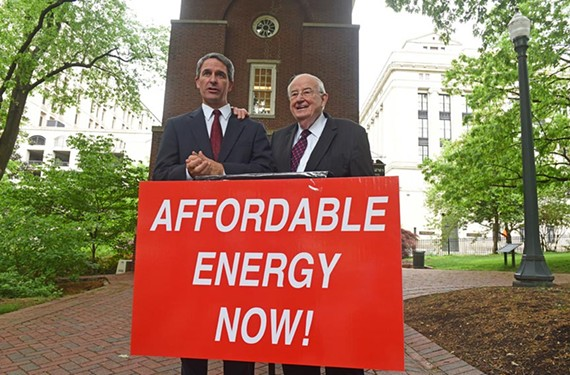 Former Attorneys General Ken Cuccinelli and Andrew Miller were in town to support consumers in a Supreme Court case about utility rate review.