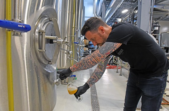 Matt Tarpey of the Veil Brewing started experimenting with lupulin, a new hops extract created by Yakima Chief-Hopunion, a large Washington-based hops supplier, before its official release.