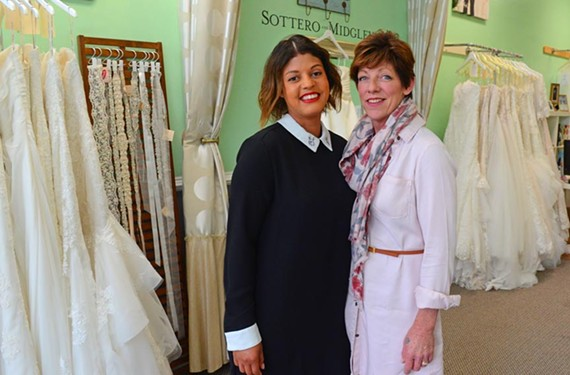 Urban Set Bride co-owners Christine Greenberg and Jennifer Haines.