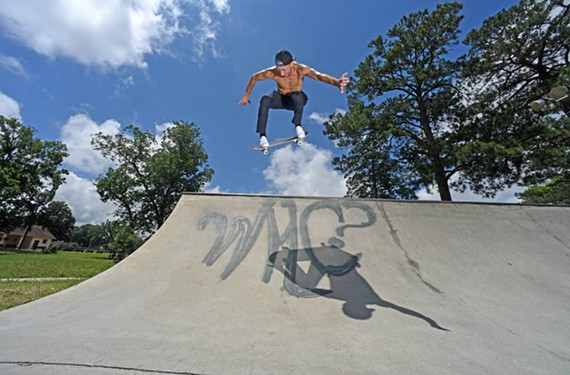 Andrew Cauthen flies high at the Carter Jones skate park on the city's South Side.