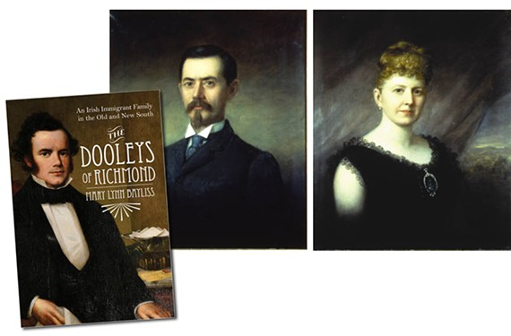 John Dooley, on the book cover and James and Sallie May Dooley.