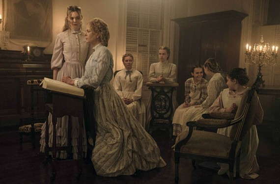 Sofia Coppola is earning kudos for her atmospheric thriller starring Ellie Fanning as Alicia, Nicole Kidman as Miss Martha and Kirsten Dunst as Edwina. The film is a remake of a 1971 Clint Eastwood film set during the Civil War.
