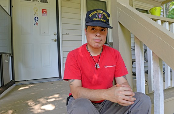 Angel Ramirez receives hormone therapy treatments paid by his veteran's benefits.