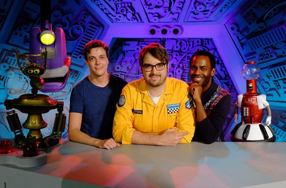 Virginia native Hampton Yount, host Jonah Ray and Baron Vaughn are key players behind the resurrection of MST3K, which will be performed live at the Dominion Arts Center.