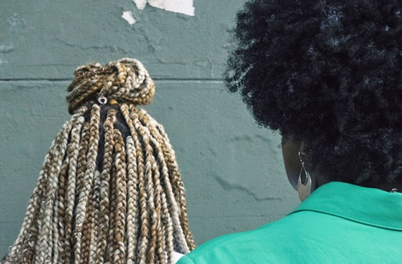 "This photo is from the third filming day of ""#dontrouchmyhairRVA,"" a documentary exploring the cultural values of African-American hairstyles. The title is inspired by Solange Knowles' hit song."