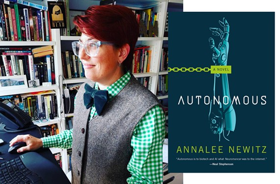 """Co-founder of science fiction blog io9 and former editor of Gizmodo Annalee Newitz will read from her new book, """"Autonomous,"""" at   Fountain Books on Sept. 21, 6:30 p.m."""