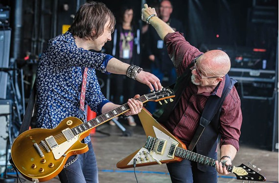 Guitarist Andy Powell, at right, is an original member of the influential 1970s British group, Wishbone Ash, which opened for the Who. The first band is performing an intimate gig at the Tin Pan.