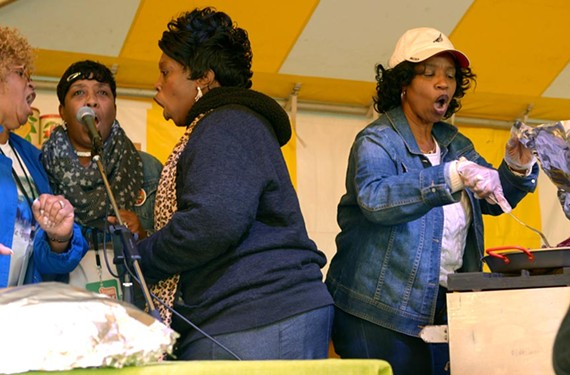 Tina Ingram-Murphy at right, the daughter of late gospel legend Maggie Ingram, will be busy making healthy soul food this year.