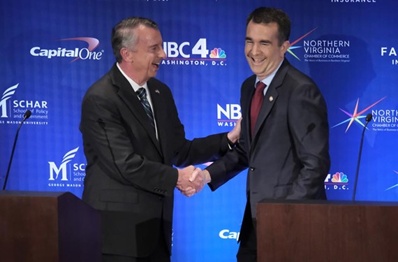Virginia candidates for governor Ralph Northam and Ed Gillespie at a Sept. 19 debate.