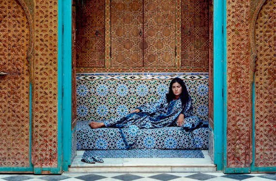"""Harem #1"" is by contemporary artist Lalla Essaydi who grew up in Morocco and now lives in the United States. Essaydi will speak at the seventh biennial Hamad bin Khalifa Symposium on Islamic Art at the VMFA  November 2-4."