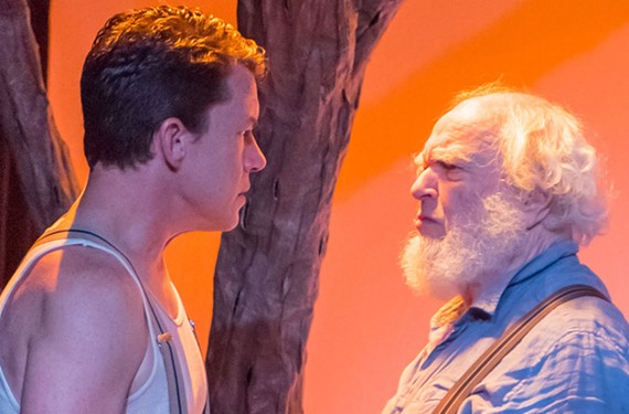 "Landon Nagel plays Eben and Alan Sader delivers a bellowing performance as the aging patriarch Ephraim Cabot in legendary playwright Eugene O'Neill's ""Desire Under the Elms,"" set in 1930s New England."