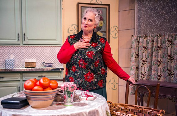 "The veteran Jacqueline Jones plays a cheerfully demented housewife in the one-act show, ""Season's Greetings,"" at Richmond Triangle Players."