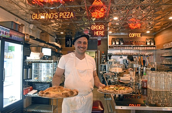 Longtime Bio Ritmo percussionist Giustino Riccio has opened Giustino's Pizza inside Galley Go-To.