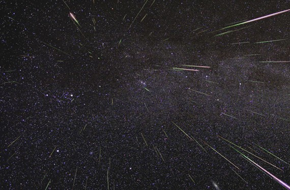 A NASA image shows Perseid meteors lighting up the sky. If the weather is clear, we should have good view next time this meteor shower occurs, Aug. 12, because there will be a new moon, says a member of the Richmond Astronomical Society.