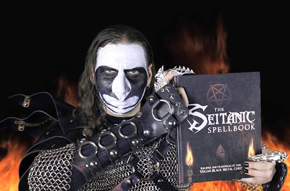 Brian Manowitz cooks to heavy-metal accompaniment as the Vegan Black Metal Chef.