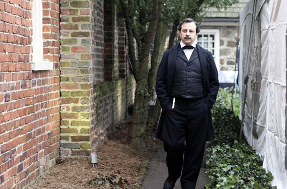 The Poe Museum of Richmond will hold a reception featuring appearances by a re-enactor.