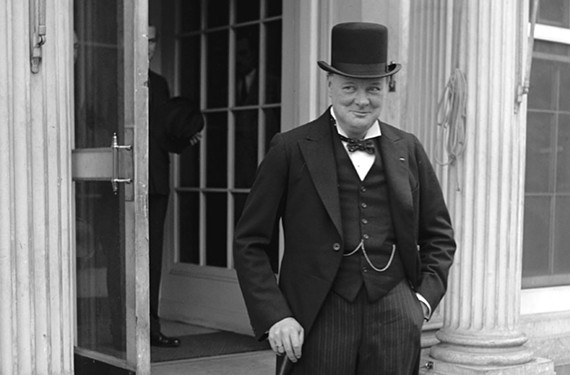 A few days after leaving Richmond, Churchill posed on the White House steps when visiting President Herbert Hoover. Library of Congress