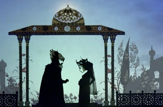 """The live animation show """"Feathers of Fire: a Persian Epic,"""" created by Brooklyn-based Iranian filmmaker Hamid Rahmanian, is being performed at UR's Modlin Center."""