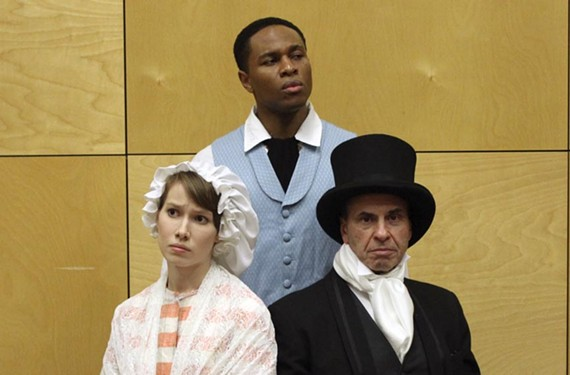 "Mara Barrett, Jamar Jones and Ken Moretti star in ""Free Man of Color"" written by Charles Smith and directed for the stage by Toney Q. Cobb."