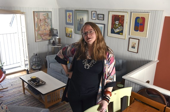 Kat Driggs has a degree in art history and a knack for collecting and combining secondhand treasures, which she meticulously displays in her one-bedroom home in the arts district.