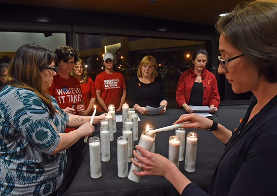 Volunteers with Moms Demand Action for Gun Sense in America met Thursday night at First Unitarian Universalist Church joined by Virginia Secretary of Public Safety and Homeland Security, Brian Moran.
