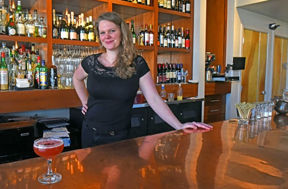 Secco bar manager Tessa Nin serves up mocktails like the Mandalorian.
