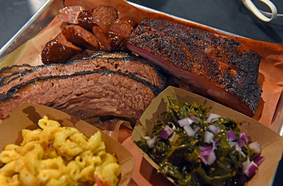 ZZQ serves up beef brisket and pork spare ribs with sides such as collard greens and jalapeño mac and cheese.
