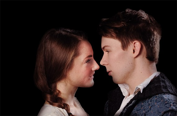 Liz Earnest as Juliet and Nate Ritsema as Romeo show what committed teens can do in Quill Theatre's production of the timeless Shakespeare classic.