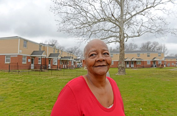 Nancy Ward, 74, Creighton Court resident and tenant council member.