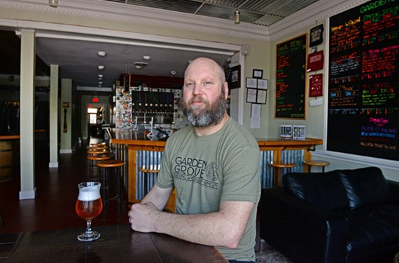 Garden Grove Brewing & Urban Winery owner Michael Brandt is one of many brewers using environmentally-friendly practices.