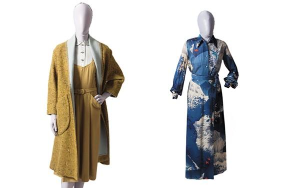 Ensemble worn by Shirley P. Plotkin, circa 1955, and a day ensemble worn by Nathalie L. Klaus, 1972.