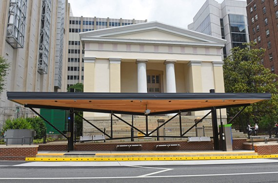 That a modernist and incompatible Pulse station was plopped in front of VCU's Hunton Student Center, a nationally-listed historic building at 1110 E. Broad St., is a travesty.
