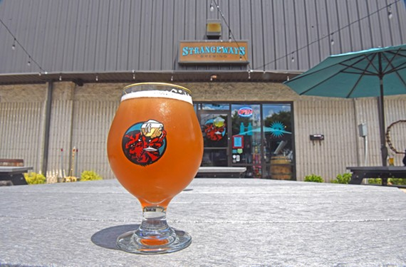 The Überlin Berliner Weisse, inspired by a German sour, is available year-round at Strangeways Brewing.
