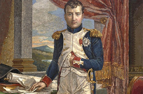 """Napoleon in His Study Wearing the Uniform of a Grenadier of the Guard"""