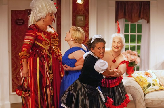 The comedic ensemble includes Amy Berlin, Debra Wagoner, Jenny Hundley and Jacqueline Jones.