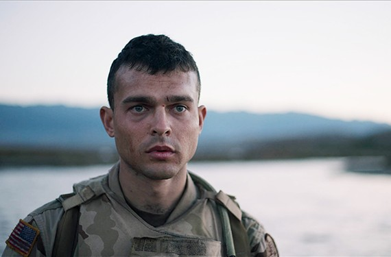 "Alden Ehrenreich plays Brandon Bartle in ""The Yellow Birds,"" based on the stellar debut book by Chesterfield native Kevin Powers."