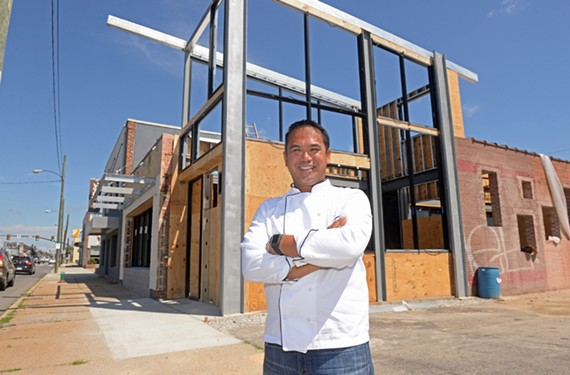 Owner and chef Mike Ledesma is getting closer to opening his first restaurant, Perch.