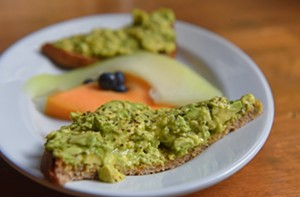 Served on two slices of toasted whole-wheat bread, the avocado toast at Urban Farmhouse is classic and easy on the wallet. - SCOTT ELMQUIST