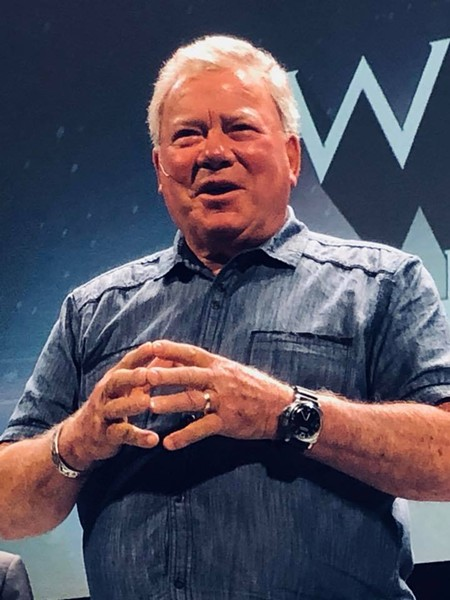 William Shatner tells a story to a Richmond audience a few months ago about a fan stealing his underwear. - BRENT BALDWIN