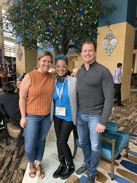 Live from Austin, Texas: Liz Doerr of Richmond Public School Board, author Tiffany Jana and Andreas Addison, Richmond City Council, 1st District.